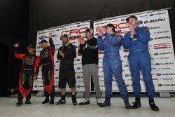 Podium: winnaars Ken Block en Alex Gelsomino, 2de Antoine L'Estage en Nathalie Richard, 3de Leo Urli