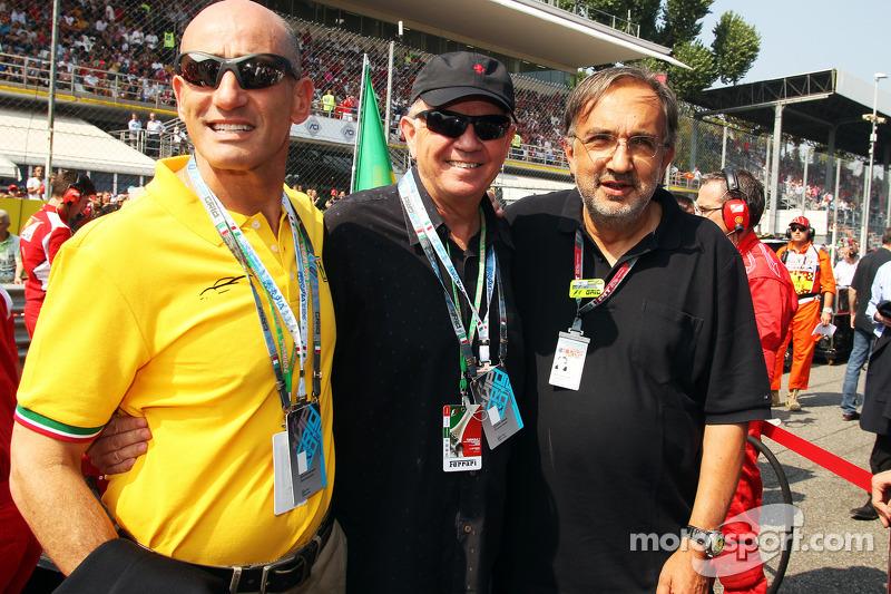 Dr Mauro Ferrari ve Sergio Marchionne, CEO FIAT Group, gridde