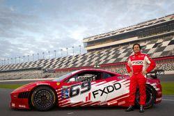 #69 AIM Autosport Team FXDD Racing with Ferrari Ferrari 458: Anthony Lazzaro