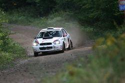 Ugo Desgreniers en Lyne Murphy, Subaru WRX Sti