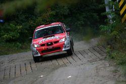 Max Riddle en Aaron Neumann, Subaru WRX Sti