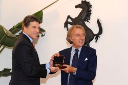 Texas Gov. Rick Perry meets with Luca di Montezemolo
