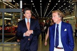 Texas Gov. Rick Perry meets ve Luca di Montezemolo