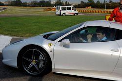 Texas Gov. Rick Perry, a Ferrari 458