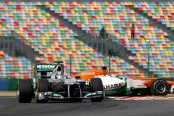 Sam Bird, test driver, Mercedes AMG F1 and Luiz Razia, Sahara Force India F1 Team