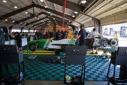 HVM Racing Lotus garage area