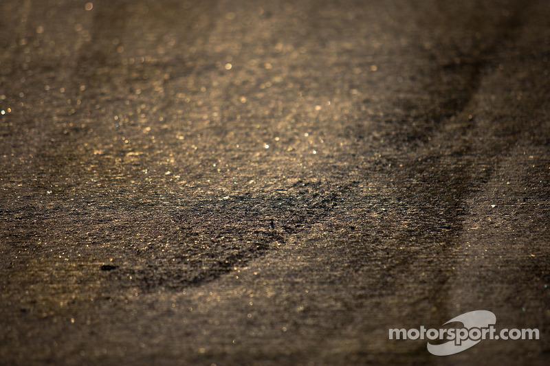 Tire makes on pitlane