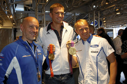 Two times Olympic Gold medalist Pete Reed with Petter Solberg