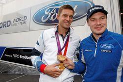 Tweevoudig Olympisch kampioen Pete Reed met Jari-Matti Latvala