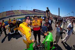 Ryan Hunter-Reay, Andretti Autosport Chevrolet and James Hinchcliffe, Andretti Autosport Chevrolet with Michael Andretti