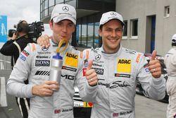 Jamie Green, Team HWA AMG Mercedes, AMG Mercedes C-Coupe; Gary Paffett, Team HWA AMG Mercedes, AMG M