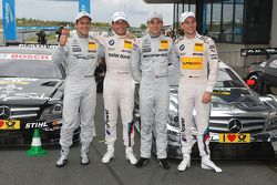 Gary Paffett, Team HWA AMG Mercedes, AMG Mercedes C-Coupe; Bruno Spengler, Team HWA AMG Mercedes, AM