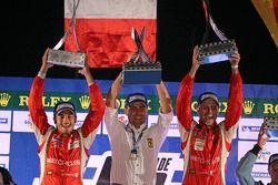 LMGTE Pro podium: winners Giancarlo Fisichella, Gianmaria Bruni