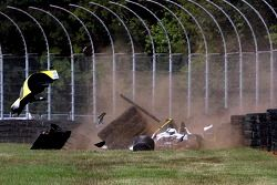 Zware crash voor #8 Merchant Services Racing Oreca FLM09: Kyle Marcelli, Lucas Downs
