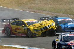 David Coulthard, Mücke Motorsport, AMG Mercedes C-Coupe; Roberto Merhi, Persson Motorsport, AMG Merc