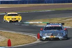 Ralf Schumacher, Team HWA AMG Mercedes, AMG Mercedes C-Coupe; Dirk Werner, BMW Team Schnitzer, BMW M