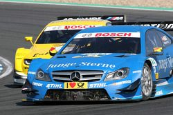 Roberto Merhi, Persson Motorsport, AMG Mercedes C-Coupe; Dirk Werner, BMW Team Schnitzer, BMW M3 DTM