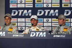 First three,, Gary Paffett, Team HWA AMG Mercedes, AMG Mercedes C-Coupe, Bruno Spengler, BMW Team Schnitzer BMW M3 DTM, Jamie Green AMG Mercedes C-Coupe