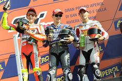 Podium: 1. Jorge Lorenzo, 2. Valentino Rossi, 3. Alvaro Bautista
