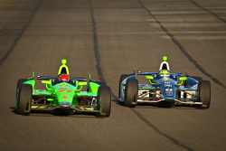 James Hinchcliffe, Andretti Autosport Chevrolet en Tony Kanaan, KV Racing Technology Chevrolet