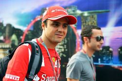 Felipe Massa, Ferrari with his manager Nicolas Todt, Driver Manager