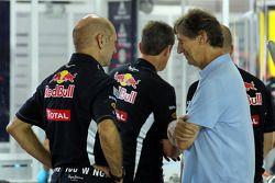 Adrian Newey, Red Bull Racing Chief Technical Officer with Mario Illien, Ilmor Engine Designer