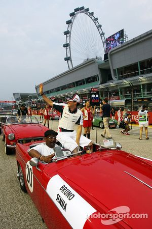 Bruno Senna, Williams en el desfile de pilotos