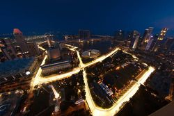 Una vista aérea del circuito