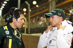 Juan Pablo Ramírez, Ingeniero de carrera de Caterham con Heikki Kovalainen, Caterham en la parrilla