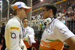 Nico Hulkenberg, Sahara Force India F1 con Bradley Joyce, Sahara Force India F1 ingeniero