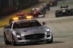 Sebastian Vettel, Red Bull Racing y el coche de seguridad