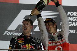 Podium: 1. Sebastian Vettel, Red Bull Racing, 2. Jenson Button, McLaren Mercedes