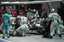 Michael Schumacher, Mercedes AMG F1 pit stop