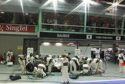 Kamui Kobayashi, Sauber pit stop