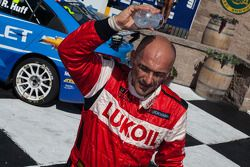 Gabriele Tarquini cooling off after race 2 podium finish