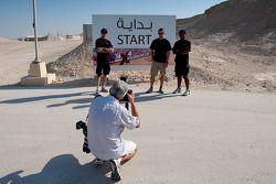 David Brabham, Karun Chandhok, Peter Dumbreck participate in the 4x4 challenge