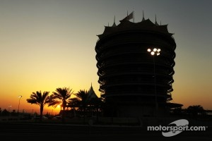 The sun sets over Bahrain circuit