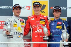 Podium: race winner Raffaele Marciello, second place Daniel Juncadella, third place Tom Blomqvist