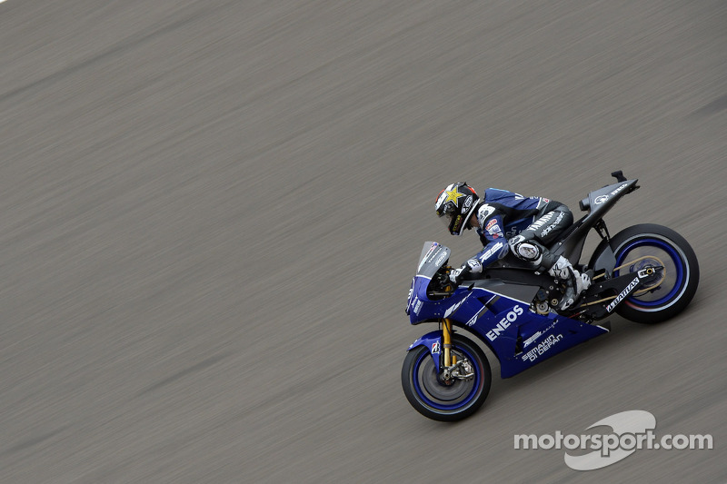 Jorge Lorenzo lució una decoración especial en su Yamaha con motivo del GP de Aragón 2011