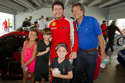 Race winner #24 Ferrari of Beverly Hills 458TP: Carlos Kauffmann celebrates