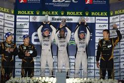 Privateer LMP1 podium: winners Nick Leventis, Danny Watts, Jonny Kane
