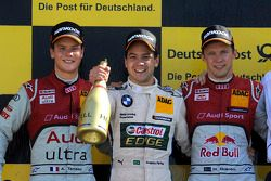 Podium: race winner Augusto Farfus Jr., BMW Team RBM; second place Adrien Tambay, Audi Sport Team Ab