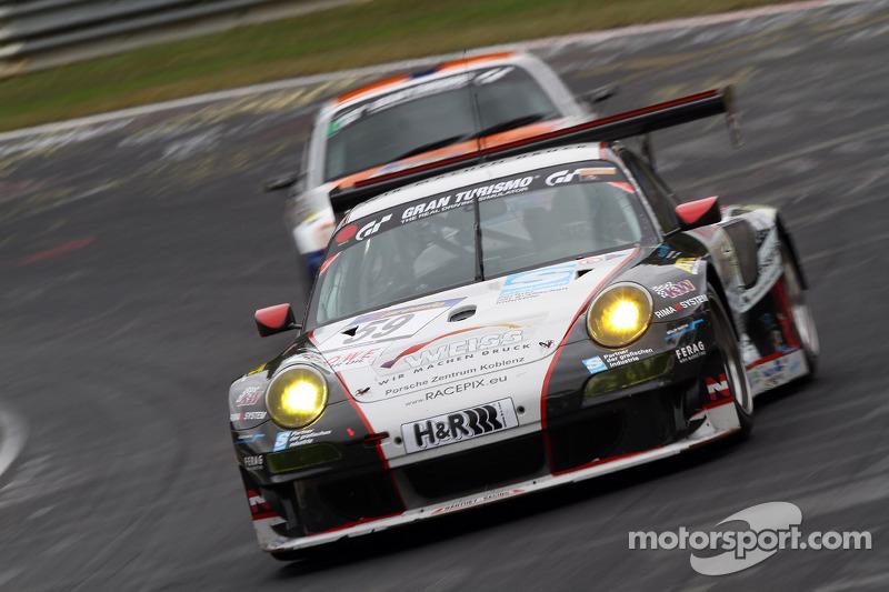 #59 Team Manthey Porsche 911 GT3 RSR: Georg Weiss, Oliver Kainz, Michael Jacobs