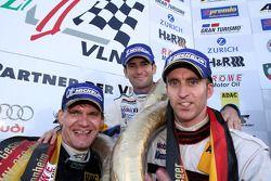 Second place Timo Bernhard, Romain Dumas and Jochen Krumbach