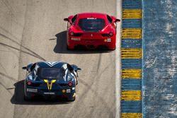 #141 Ferrari of San Francisco 458CS: John Baker, #28 Ferrari of Beverly Hills 458CS: Jon Becker