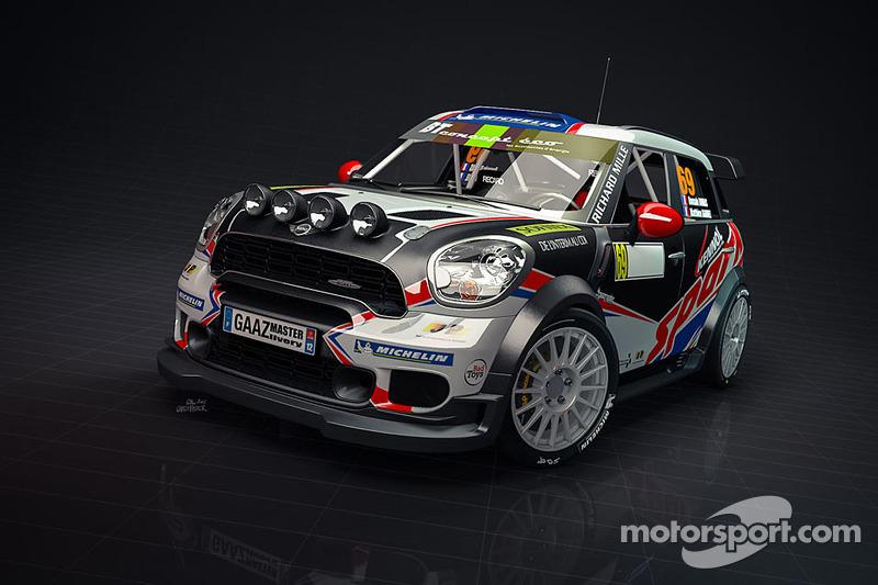 Презентация раскраски Mini WRC Ромена Дюма, особое событие.