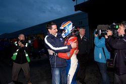 Champion Jack Harvey celebrates