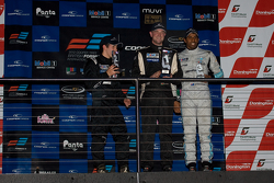 National class podium from left: Spike Goddard, Hywel Lloyd and Duvashen Padayachee