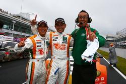 GT300 champions Hiroki Yoshimoto, Kazuki Hoshino