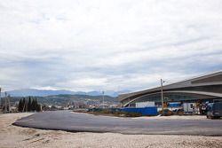 Constructie Sochi F1 circuit, bocht bij schaatshal